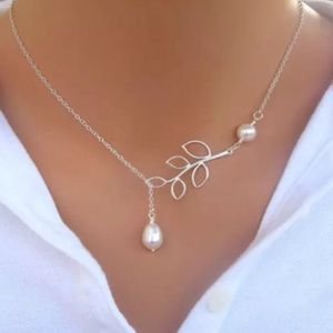Beautiful Sterling Silver Pearl Branch Necklace